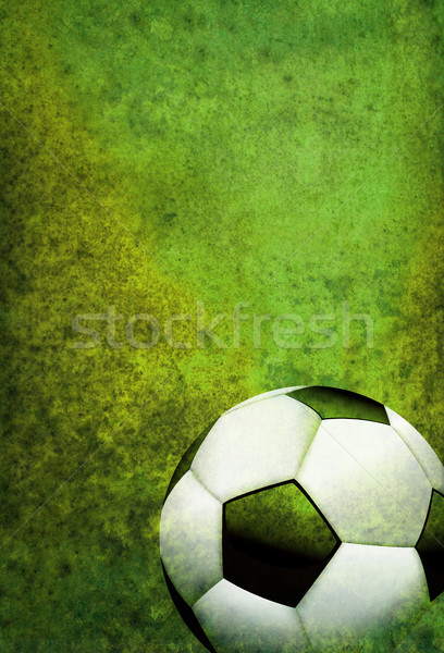 Textured Soccer Football Field Background with Ball Stock photo © enterlinedesign