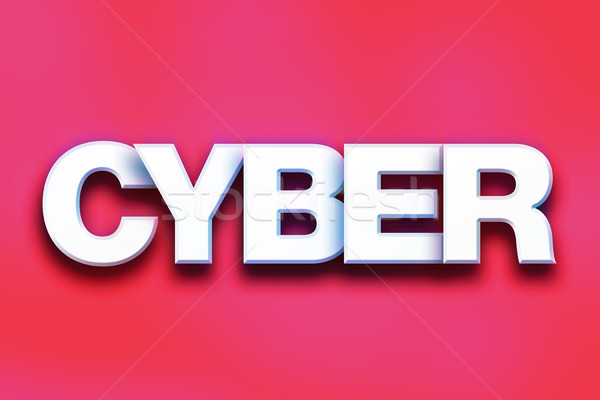 Cyber Concept Colorful Word Art Stock photo © enterlinedesign