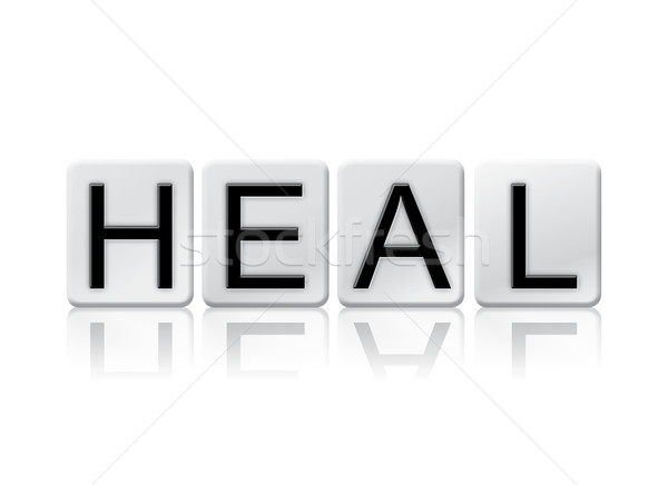 Heal Isolated Tiled Letters Concept and Theme Stock photo © enterlinedesign