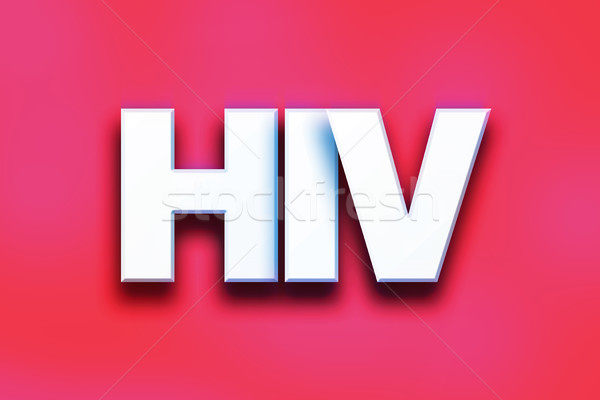 HIV Concept Colorful Word Art Stock photo © enterlinedesign