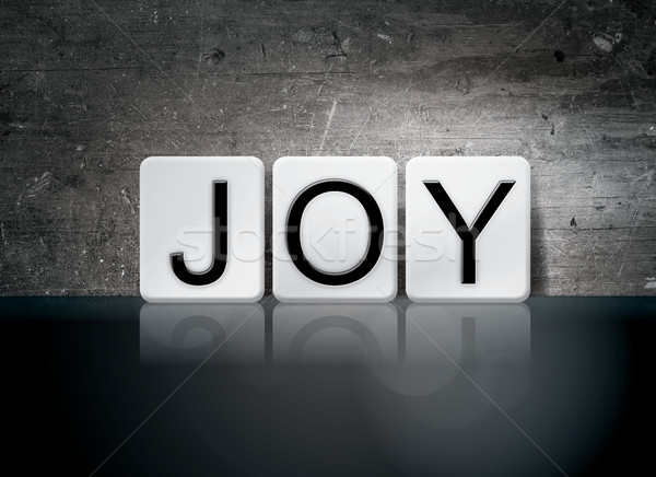 Joy Tiled Letters Concept and Theme Stock photo © enterlinedesign