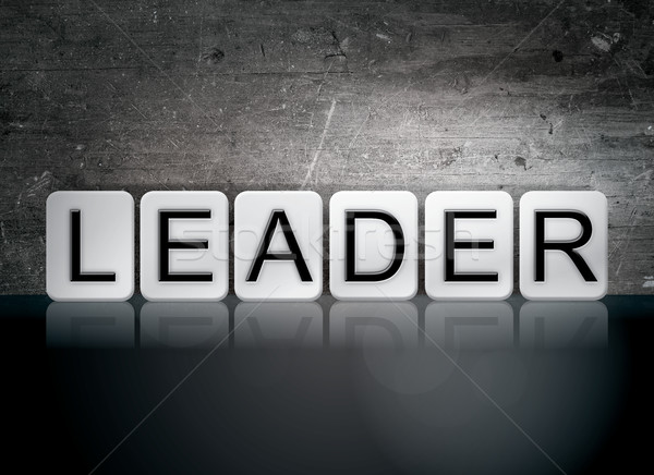 Leader Tiled Letters Concept and Theme Stock photo © enterlinedesign