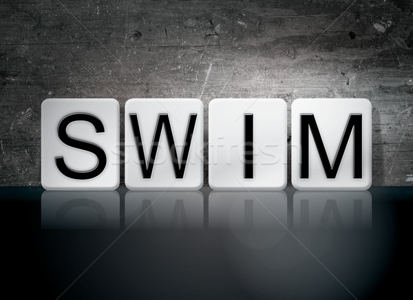 Swim Tiled Letters Concept and Theme Stock photo © enterlinedesign
