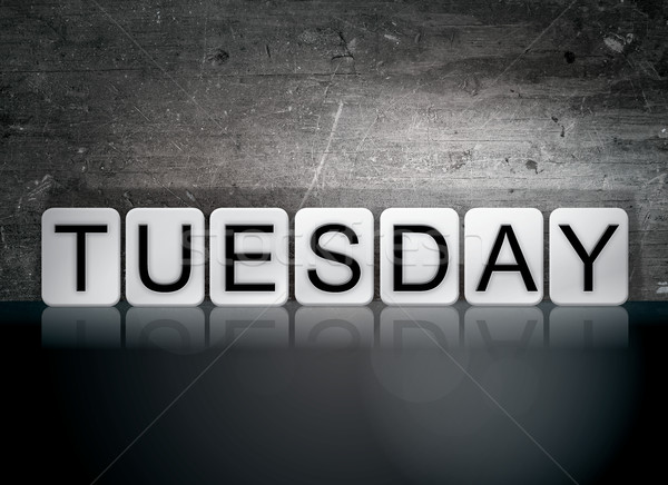 Tuesday Tiled Letters Concept and Theme Stock photo © enterlinedesign