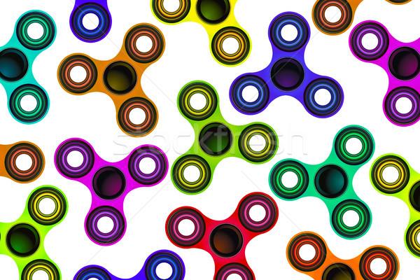Fókusz játék színes illusztráció játékok háttér Stock fotó © enterlinedesign