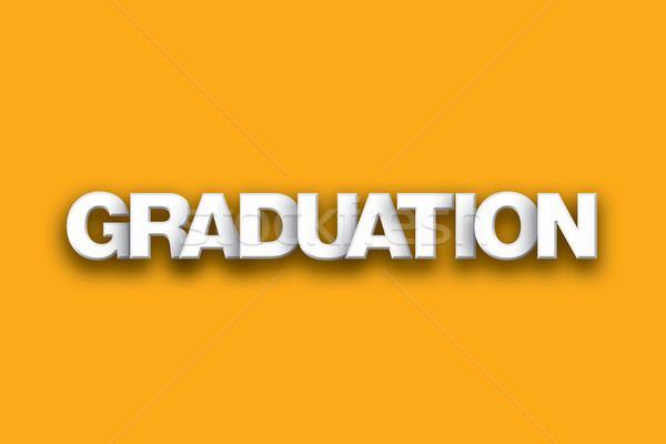 Graduation Theme Word Art on Colorful Background Stock photo © enterlinedesign