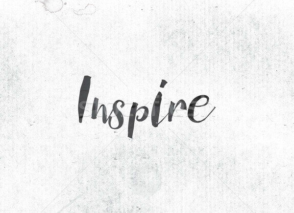 Inspire Concept Painted Ink Word and Theme Stock photo © enterlinedesign