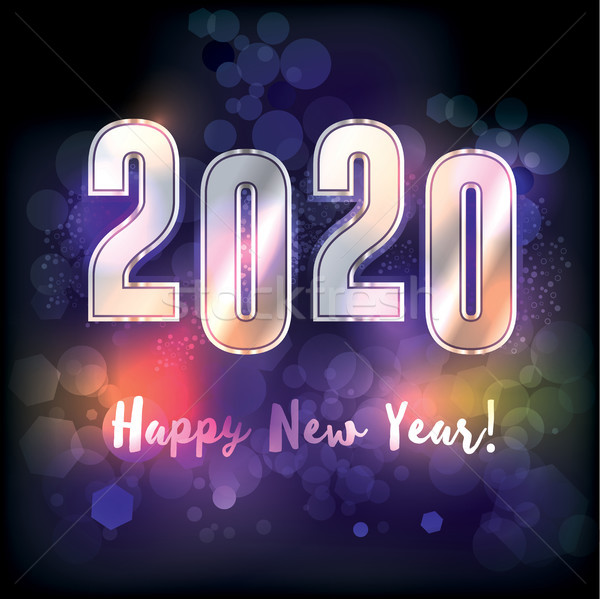 Happy New Year 2020 Illustration Stock photo © enterlinedesign