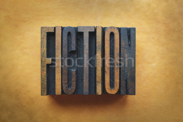 Fiction mot écrit vintage type Photo stock © enterlinedesign