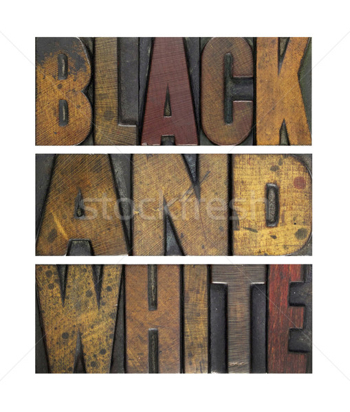 Black and White Stock photo © enterlinedesign