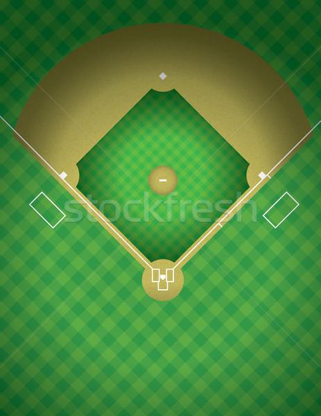 Baseball Field Illustration Stock photo © enterlinedesign