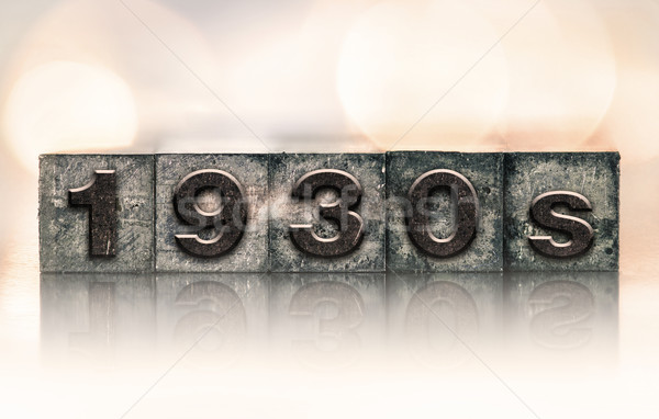 1930 vintage type woord geschreven Stockfoto © enterlinedesign
