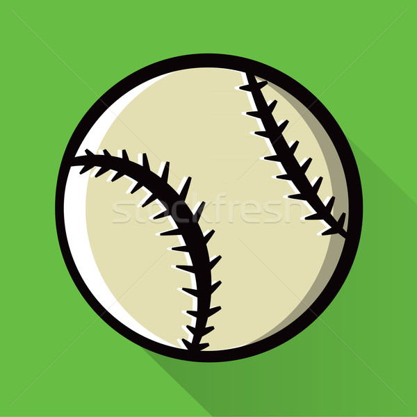 Single Baseball Icon Illustration Stock photo © enterlinedesign