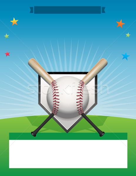 Vector Baseball Flyer Background Illustration Stock photo © enterlinedesign