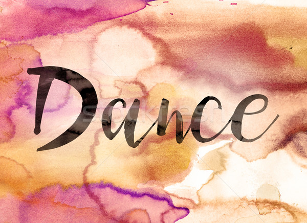 Dance Concept Watercolor Theme Stock photo © enterlinedesign
