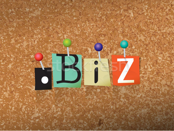 Dot BIz Concept Pinned Letters Illustration Stock photo © enterlinedesign