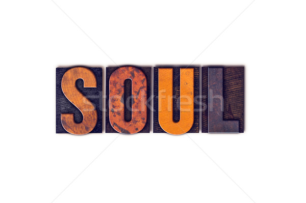 Soul Concept Isolated Letterpress Type Stock photo © enterlinedesign