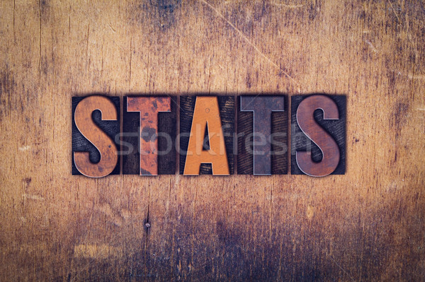 Stats Concept Wooden Letterpress Type Stock photo © enterlinedesign