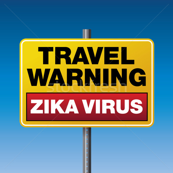 Zika Virus Travel Warning Illustration Stock photo © enterlinedesign