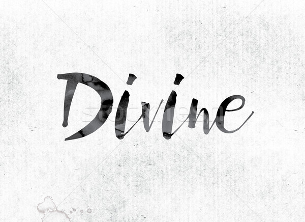 Divine Concept Painted in Ink Stock photo © enterlinedesign