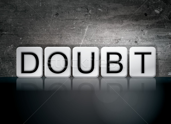 Doubt Tiled Letters Concept and Theme Stock photo © enterlinedesign