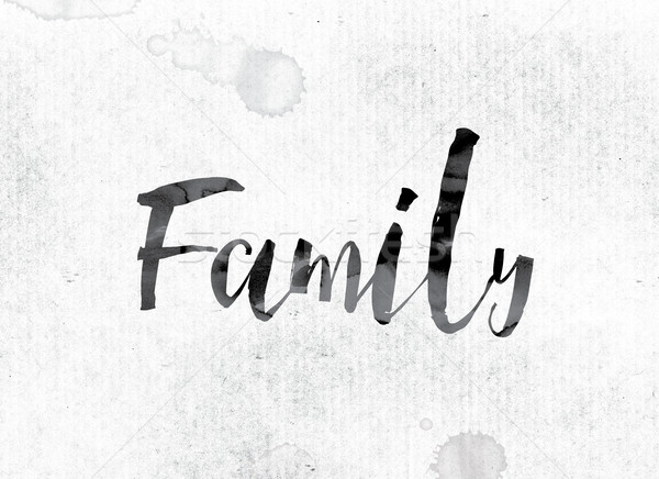 Family Concept Painted in Ink Stock photo © enterlinedesign