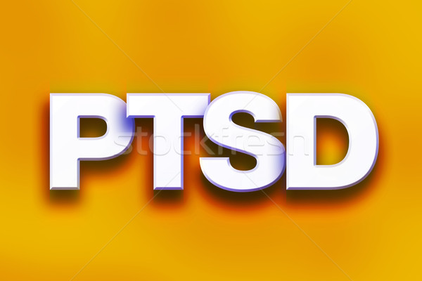 PTSD Concept Colorful Word Art Stock photo © enterlinedesign