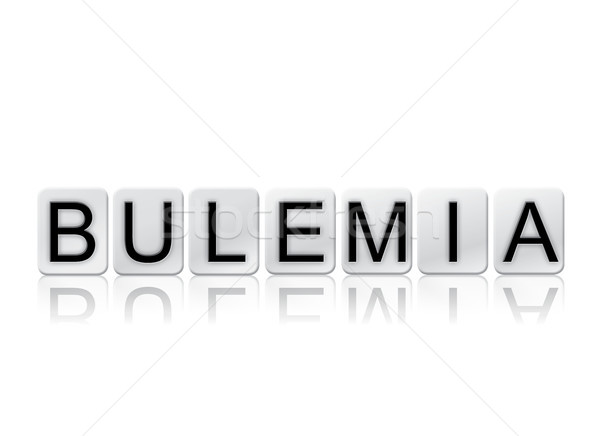 Bulemia Concept Tiled Word Isolated on White Stock photo © enterlinedesign
