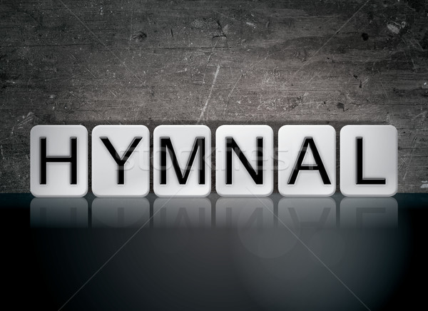 Hymnal Concept Tiled Word Stock photo © enterlinedesign