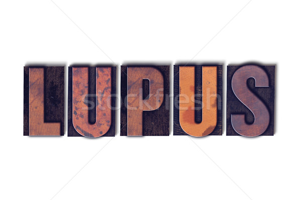 Lupus Concept Isolated Letterpress Word Stock photo © enterlinedesign