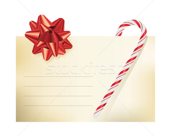 Christmas Themed Blank Note Card Illustration Stock photo © enterlinedesign