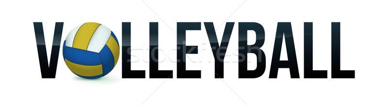 Röplabda szó művészet illusztráció labda vektor Stock fotó © enterlinedesign