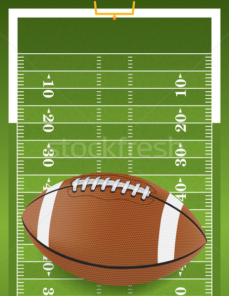 Realistic Football on Textured Football Field Stock photo © enterlinedesign