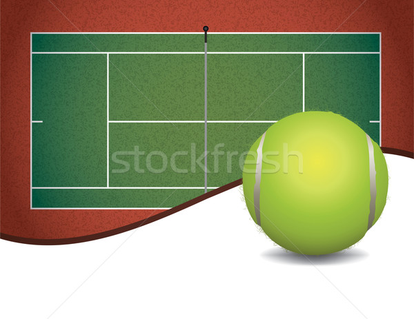 Tennis Court and Ball Background Illustration Stock photo © enterlinedesign