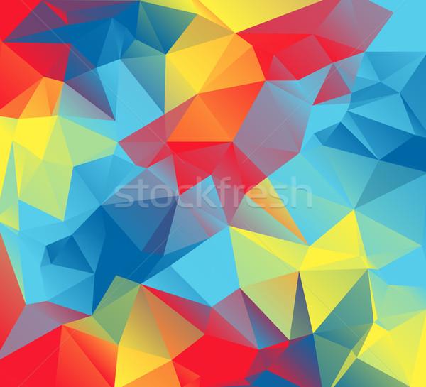 Abstrakten Illustration Autismus farbenreich rot gelb Stock foto © enterlinedesign