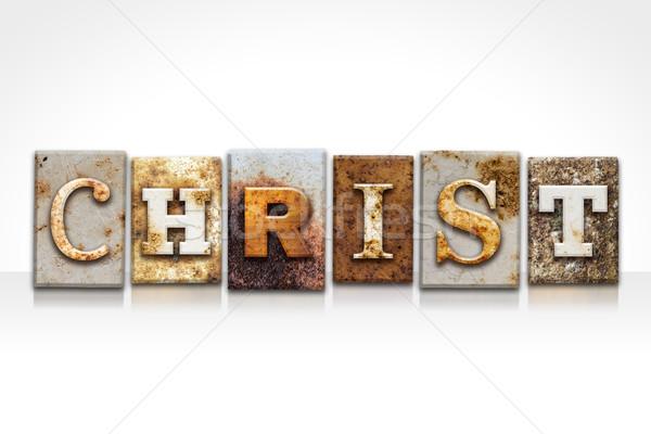 Cristo aislado blanco nombre escrito Foto stock © enterlinedesign
