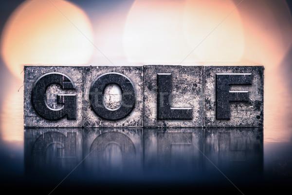 Golf Concept Vintage Letterpress Type Stock photo © enterlinedesign