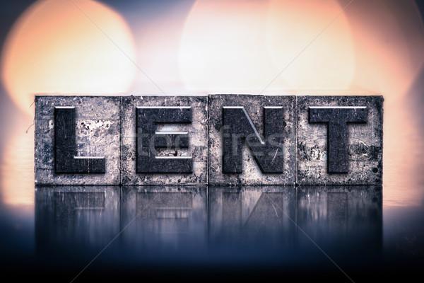 Lent Concept Vintage Letterpress Type Stock photo © enterlinedesign
