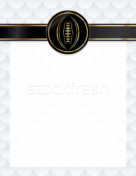 American Football Seal and Letterhead Illustration Stock photo © enterlinedesign
