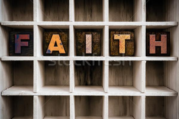 веры тип обратить слово Сток-фото © enterlinedesign