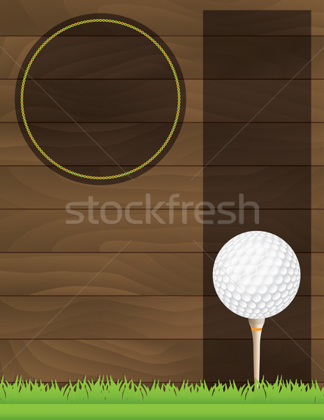 Vector Golf Tournament Flyer Illustration Stock photo © enterlinedesign