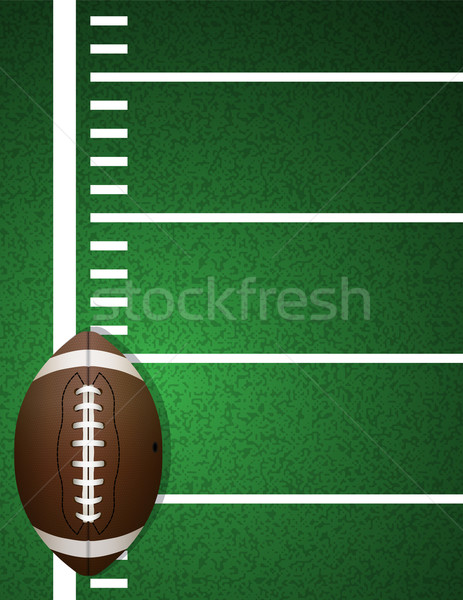 American Football on Field Background Stock photo © enterlinedesign