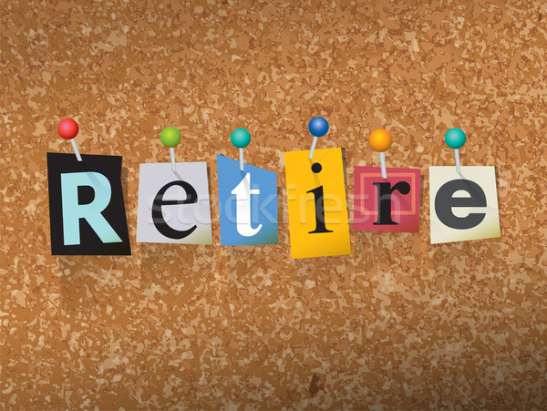 Retire Concept Pinned Letters Illustration Stock photo © enterlinedesign