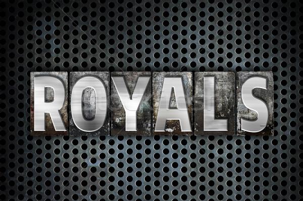 Royals Concept Metal Letterpress Type Stock photo © enterlinedesign
