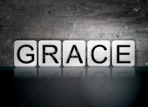 Grace Tiled Letters Concept and Theme Stock photo © enterlinedesign