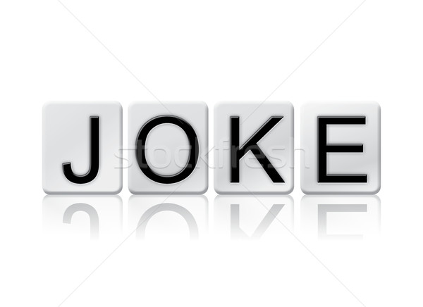 Joke Isolated Tiled Letters Concept and Theme Stock photo © enterlinedesign