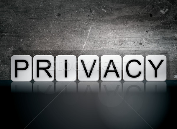 Privacy Tiled Letters Concept and Theme Stock photo © enterlinedesign
