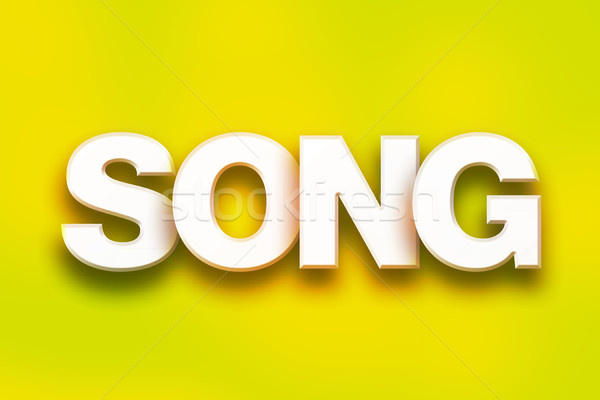 Song Concept Colorful Word Art Stock photo © enterlinedesign