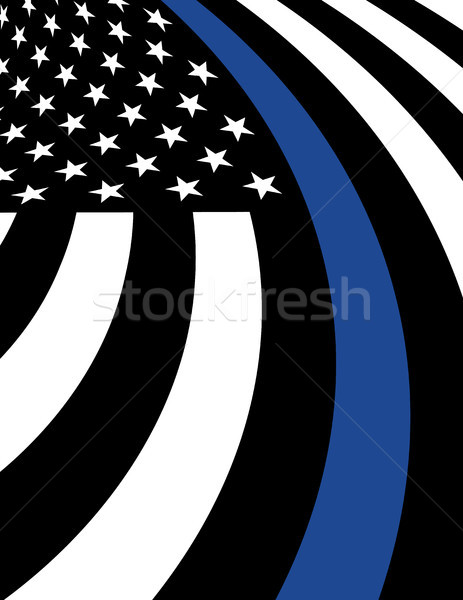 警察 サポート フラグ 実例 アメリカンフラグ シンボリック ストックフォト © enterlinedesign