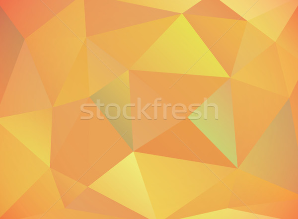 Warm Autumn Colored Abstract Triangles Background Illustration Stock photo © enterlinedesign